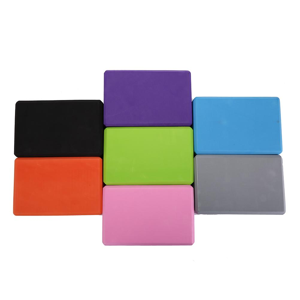 7 Colors EVA Foam Yoga Block Brick Pilates Sports Exercise Gym Workout Stretching Aid Body Shaping Health Training 1PCS