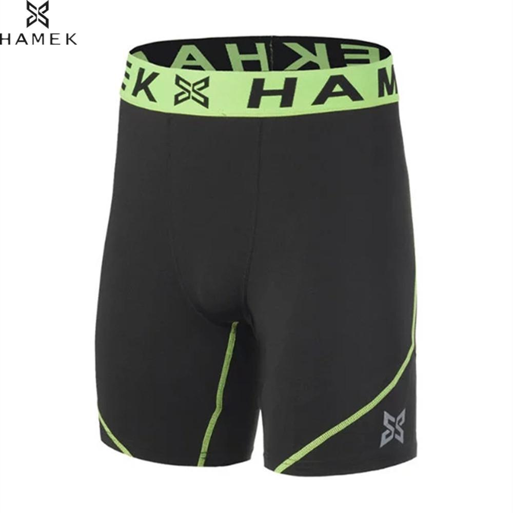 2019 HAMEK 2017 New Men Gym Fitness Compression Running Shorts Tights  Sports Spandex Lycra Elastic Tight Shorts For Workout Training From Stem 91ce8df56