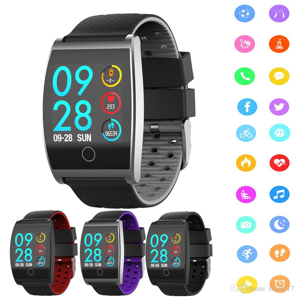 2018 Smart Watch QS05 Wristband With Blood Pressure Blood Oxygen Heart Rate  Monitor Sports Activity Tracker Fitness Smartwatch