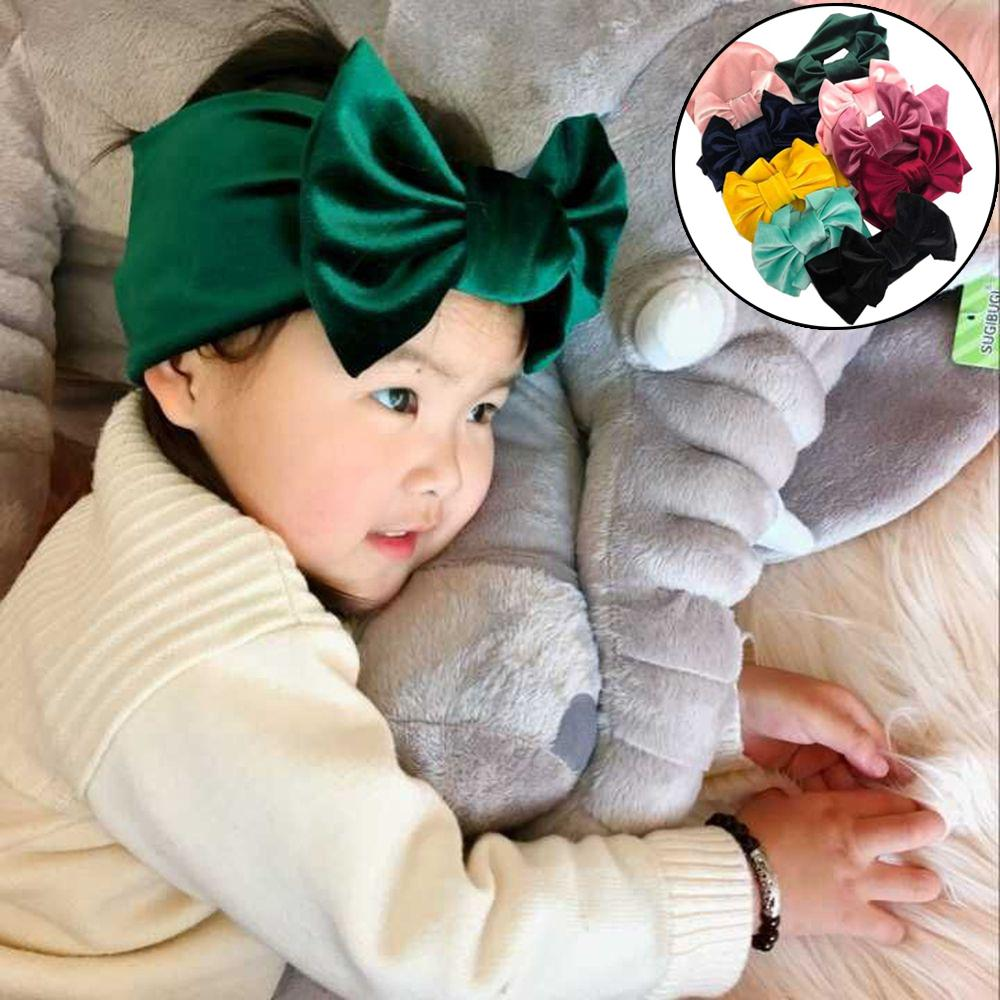 31813289b052 5   Big Fashion Floppy Velvet Bow Headband For Kids 2018 Solid ...