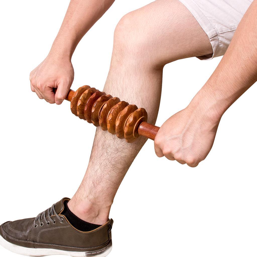 Masseur Soins de santé Rouleau En Bois Rouleau D'exercice Blessure Du Sport Gym Corps Bras Jambe Arrière Trigger Point Muscle Roller Stick