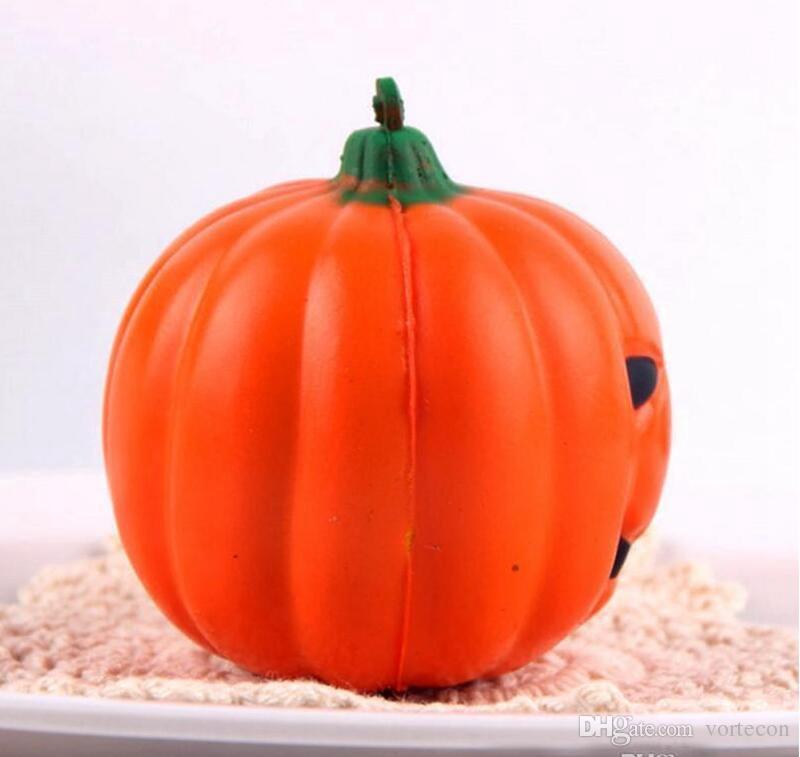 Jumbo 7cm Kawaii Jumbo Halloween Pumpkin Squeeze Fruit Squishy Slow Rising Phone Strap DIY Decor Scented Charm Bread Kid Toys