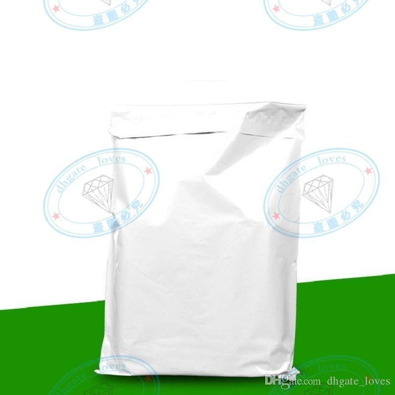 17CMx30CM Poli sacchetti di plastica autosigillanti bianchi Corriere di plastica polietilene distruttivo Poli sacchetti di plastica autoadesivi Spedizione rapida posta Borsa GBN-98