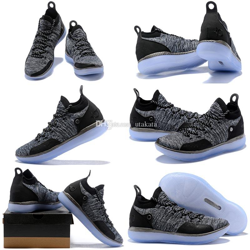 3d1e90b0e6fe5e With Box 2018 New Arrival KD XI 11 EP Oreo Ice Blue Sports Basketball Shoes  For Top Quality Mens Kevin Durant US 40 46 Cp3 Shoes Kids Sneakers From  Utakata