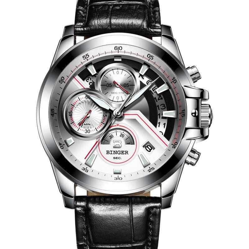Compre Suiza BINGER Reloj Hombres Marca De Lujo Relojes De Hombre Zafiro  Relojes Luminosos Relojes De Pulsera Mecánicos A Prueba De Agua Masculino  B9016 4 A ... e0a5b86fdcb