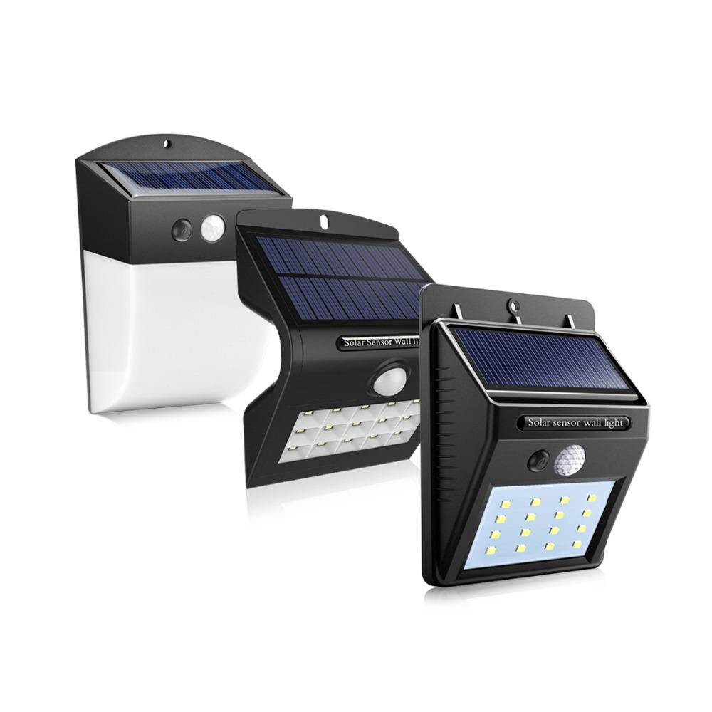 Grosshandel Pir Bewegungsmelder Solar Wandleuchte Led Veranda Lichter