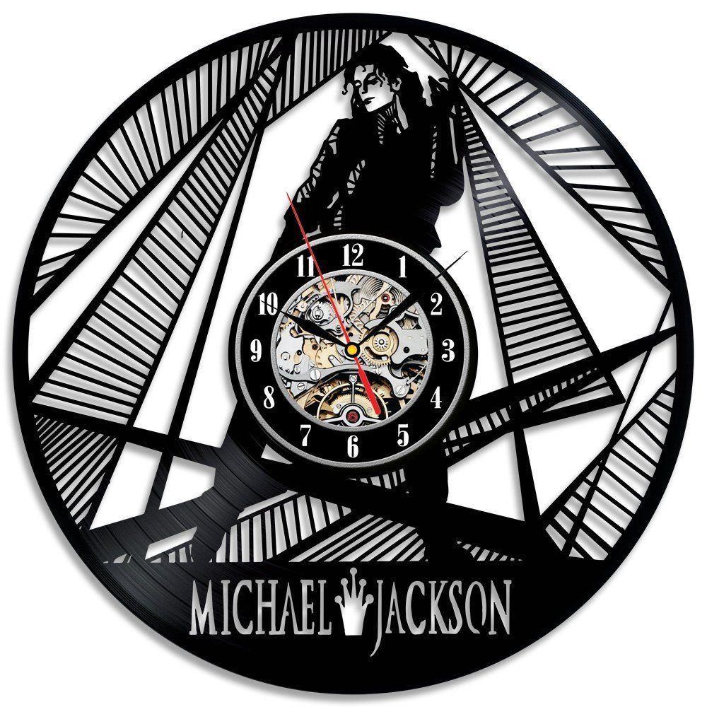 Michael Jackson Wall Clock Modern Design CD Clocks Vinyl Wall Watch Home  Decor