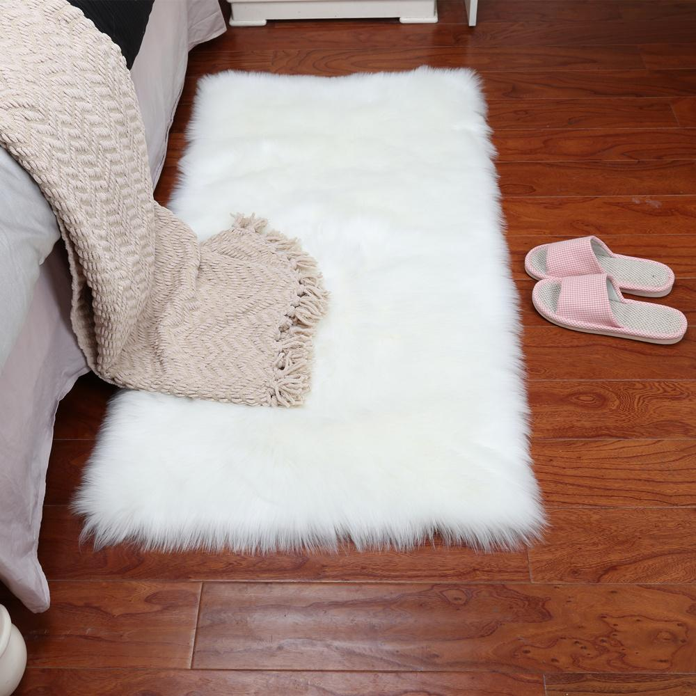 Grey Sheepskin Chair Cover Warm Hairy Carpet Seat Pad Long Skin Fur Plain  Fluffy Area Rugs Washable Square Colors Berber Rugs Online Carpet From  Kuaikey, ...