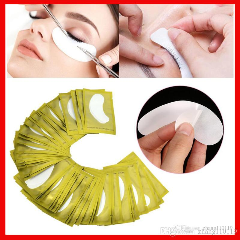 5 couleurs peuvent mélanger Cils Silk Eye Pads Under Eye Patch Masque pour les Yeux Patches Extension de Cils Surface Cils Papier Lsolation Pad Make Up Outils