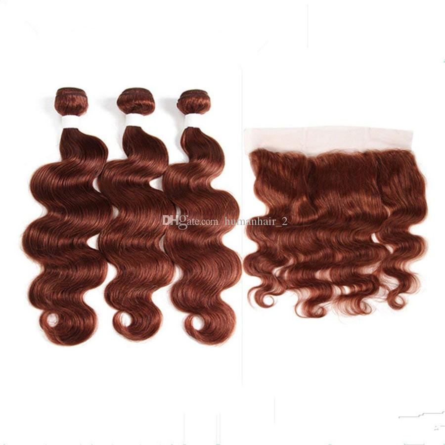 2018 33 Reddish Brown Hair With Lace Frontal Closure Copper Red