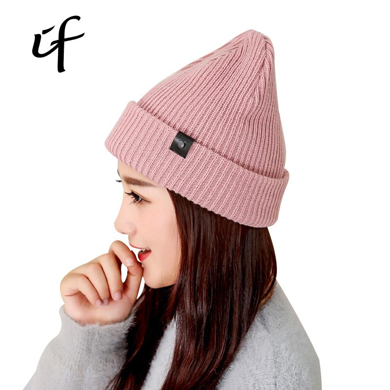 09989ce4cea Women s Knitted Hats For Winter Autumn Hip Hop Hat Beanies Gorros ...
