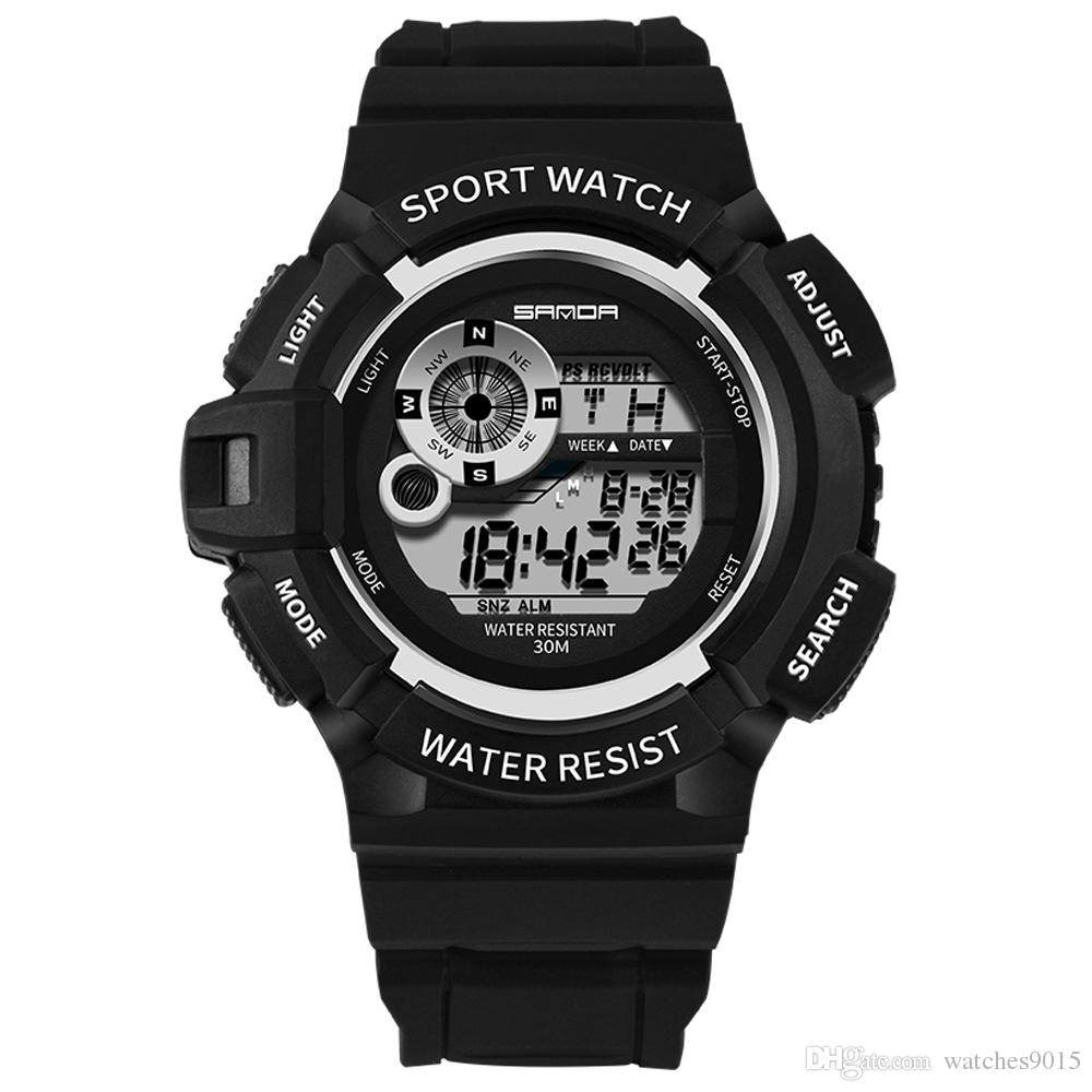 Digital Watches New Brand Outdoor Sports Compass Watches Hiking Men Watch Digital Led Electronic Watch Man Sports Watches Chronograph Men Clock And To Have A Long Life.