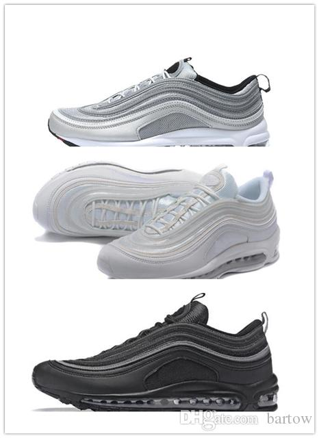 2018 new 97 OG Tripel White Metallic Gold Silver Bullet Best quality WHITE Premium Running Shoes Men Women Sports Shoes Free shipping