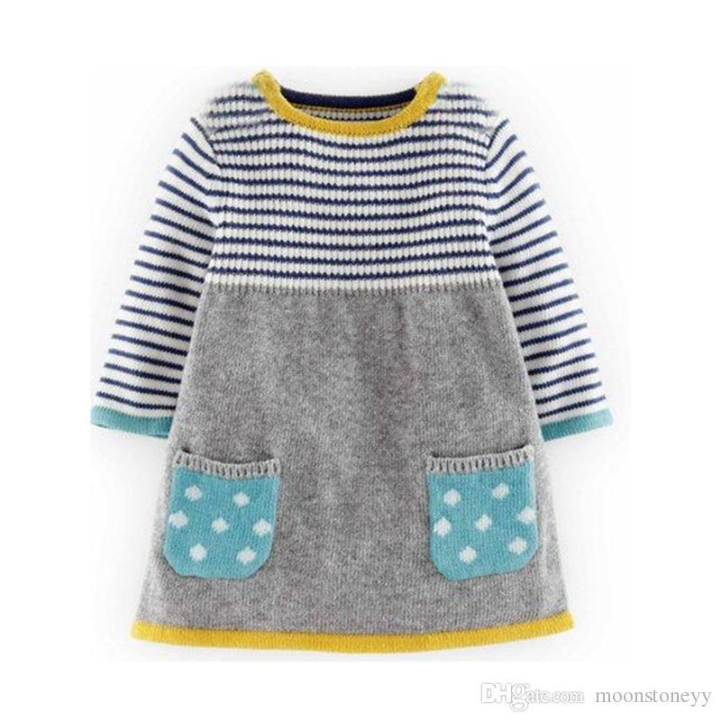 2018 Autumn Winter New Girls Sweater Dress Kids Baby Sweater