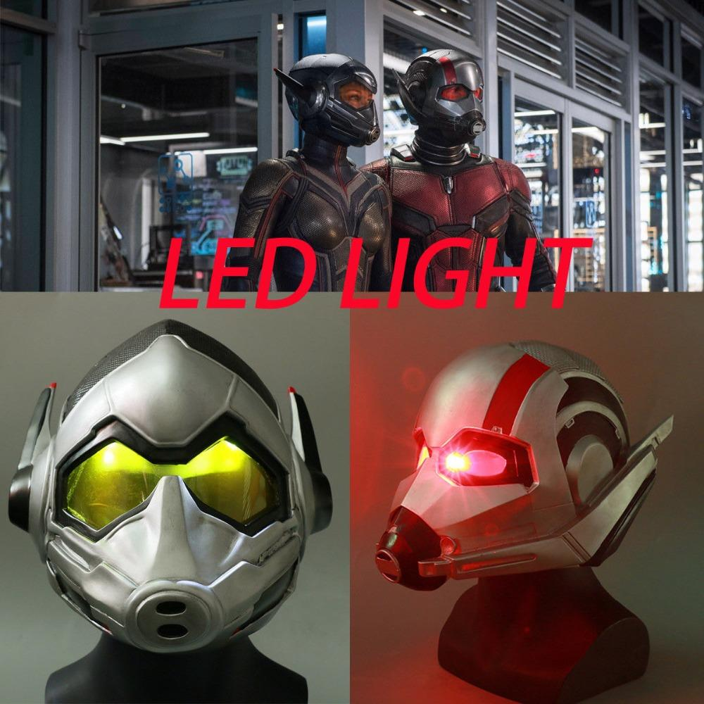 2019 2018 New Ant Man LED Helmet Cosplay Ant Man And The Wasp LED Helmet  Party Mask Halloween Party From Saltblue 15b92547f8c1