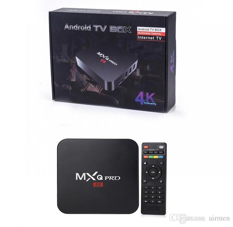 4K MXQ PRO Quad Core Amlgoic S905W Android 7 1 TV BOX With Customized KD  17 4 TV Box 4K Media Player