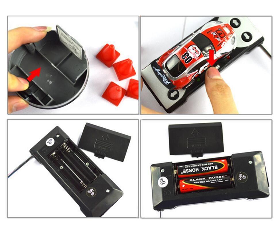 Радио пульт дистанционного управления гоночный автомобиль детские игрушки высокая скорость мини-Кокс может RC автомобиль для детей Рождественский подарок с дорожными блоками