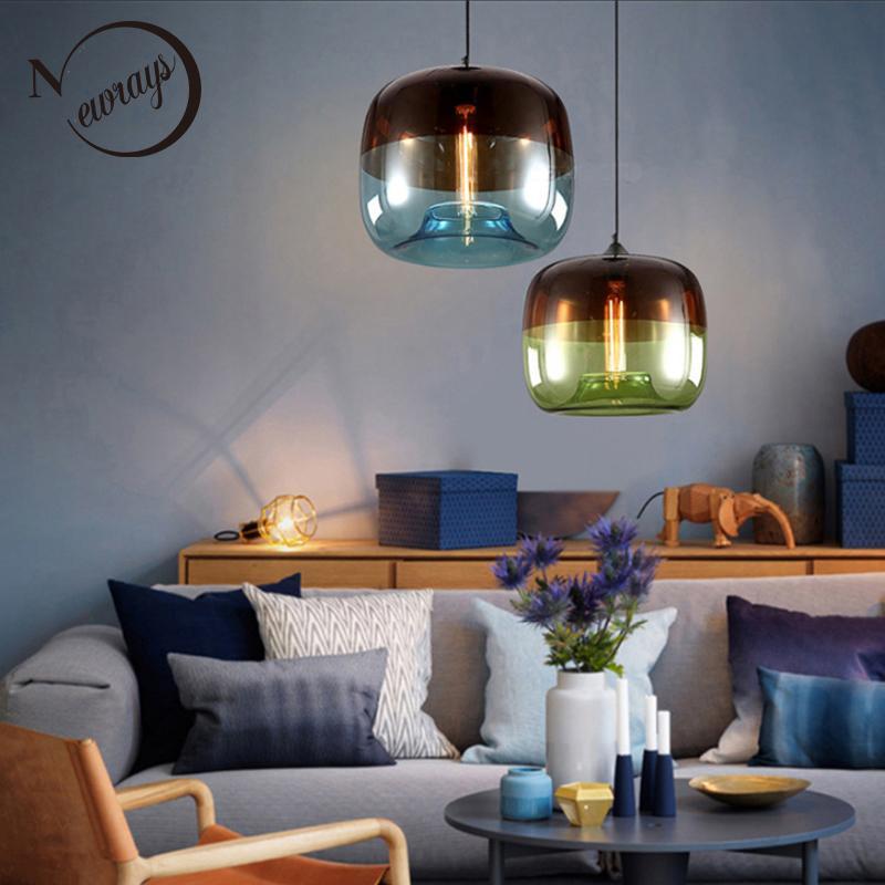 Großhandel Moderne Nordic Art Deco Bunte Hängenden Glas ...