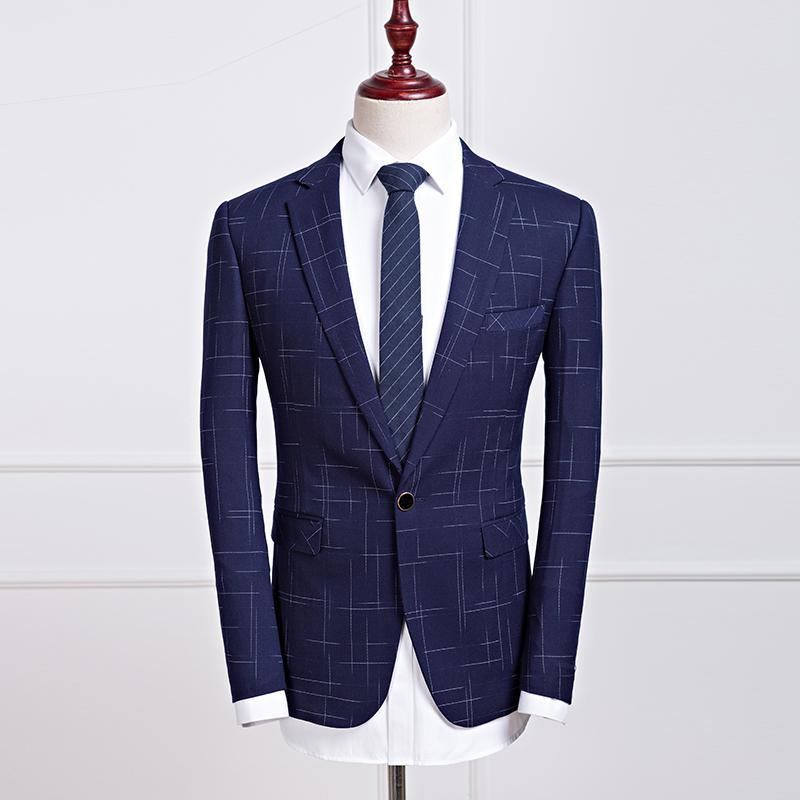 Neue Ankunft Einfarbig Zweireiher Männer Blazer Anzug Jacke Formale Geschäfts Outwear Kleid Jacke Männer Chaqueta Traje Hombre Herrenbekleidung & Zubehör