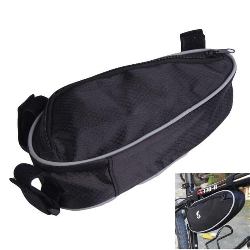 Black Cycling Bicycle Bike Bag Accessories 2017 Front Tube Frame