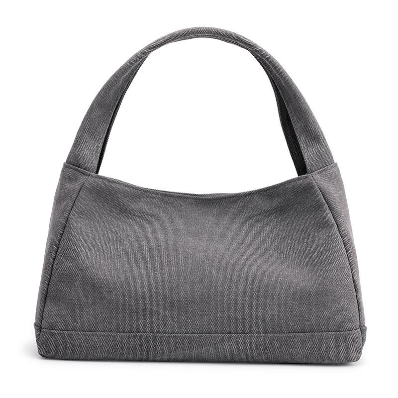 Kvky New Casual Totes For Women Canvas Bag Large Capacity Ladies Handbag  Pure Color Simple Light Shopping Fashion Design Discount Designer Handbags  ... 9435fe65a01fd