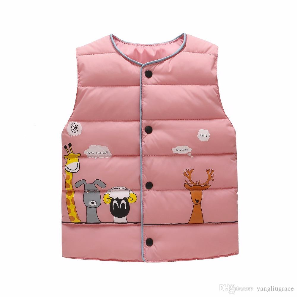c1a0fe70a Baby Down Cotton Vest Boys And Girls Lightweight Warm Vest Jacket ...