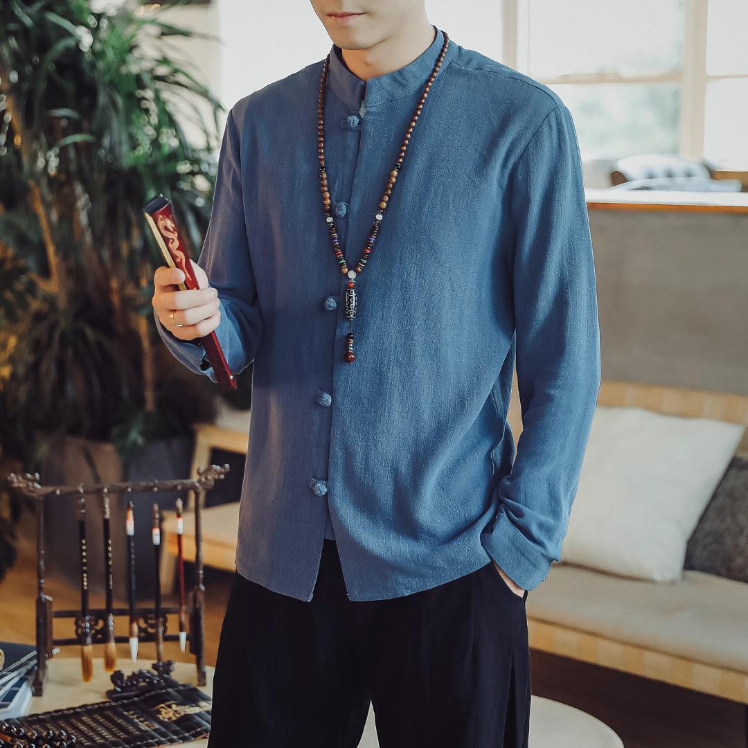 Acquista Abbigliamento Tradizionale Cinese Uomini Kung Fu Abbigliamento  Cheongsam Shanghai Tang Suit Kungfu Camicie Orientali Vintage Da Uomo 5XL A   37.32 ... b259afea019
