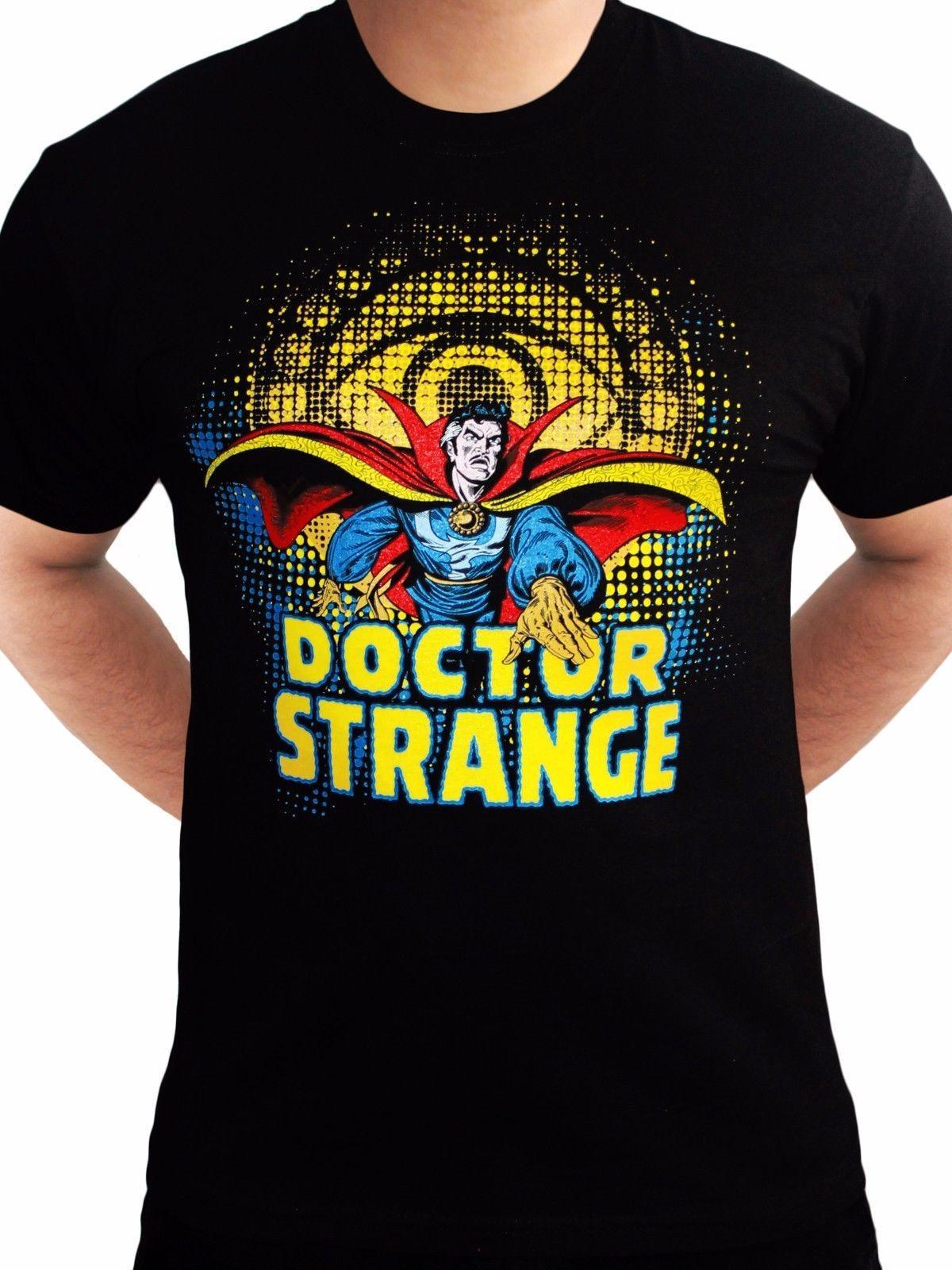2a38de6bb48b2 Compre El Doctor DR Strange Logo Avengers Marvel Comics Para Hombre Negro  Camiseta Divertido Envío Unisex Casual Regalo A  12.96 Del  Fashionistas tees ...