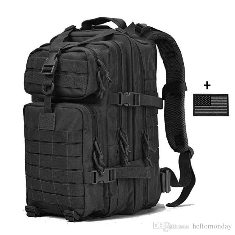ef8f17611ec0 2019 Large Military Tactical Backpack Outdoor Army 3 Days Assault Pack  Molle Bug Out Bag Backpack For Hunting Camping Trekking From Hellomonday