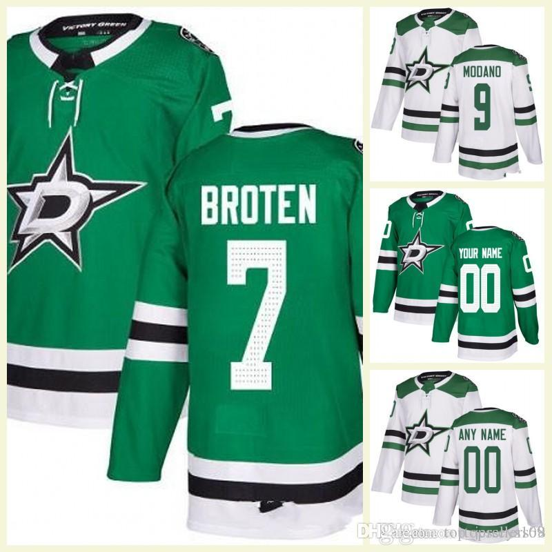 low priced 28a57 e9cad 2017-2018 Season MENS Dallas Stars 7 NEAL BROTEN 5 Jamie Oleksiak 6 Julius  Honka 9 Modano 100th Custom Hockey Jersey Home Away