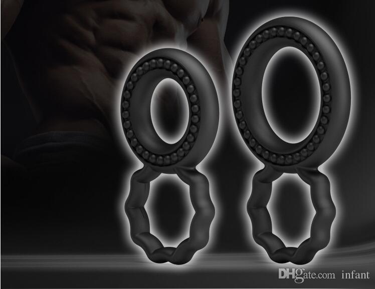 Adult Sex Toys Male Silicone Lock Fine Repeater Ring Delay Penis Ring