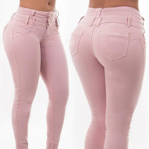 2b399dcd1a111 2019 Women Fashion Skinny Jeans Autumn And Winter Ladies Casual Pants High  Waist Package Hip Sexy Plus Size Long Trousers From Blankkkk