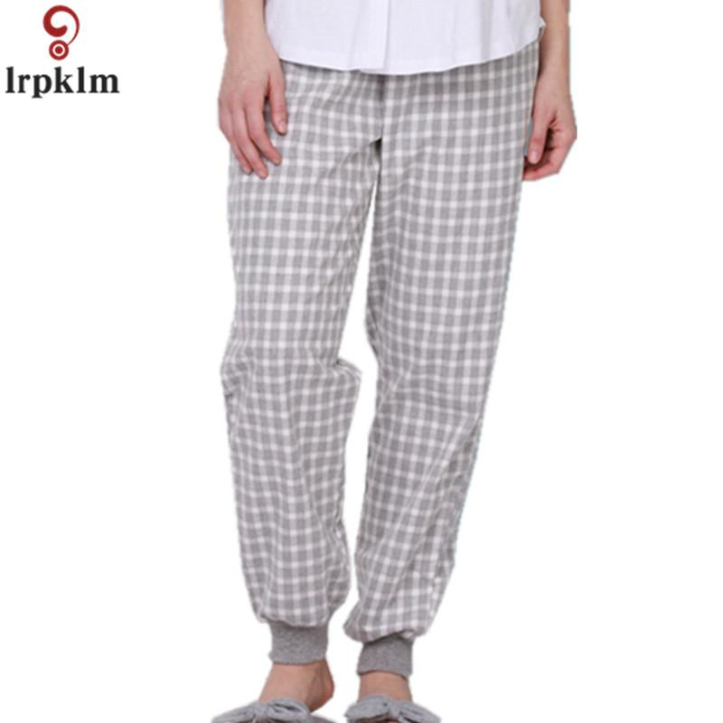 54842264a91 Women's Sleeping Pants Cotton Long Night Wear Trousers Loose Elastic Pant  Plus Size For Europa Summer Pajamas 2018 JW279