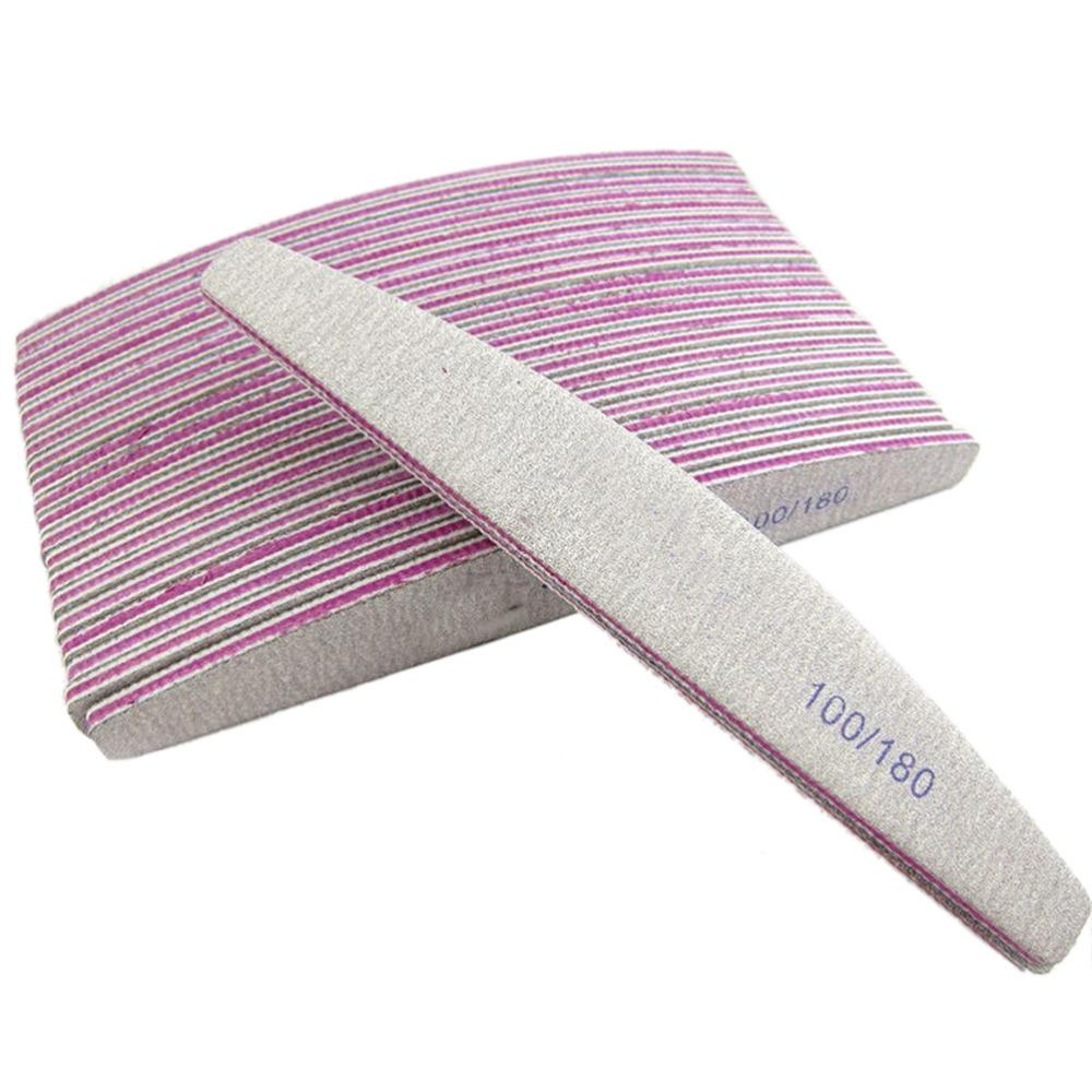 Professional Nail Files Buffer Half Moon Curved Double Side Gray Color Nail Art Care Tool Manicure Accessory Tools Nail Varnish Young Nails From Nomakeup, ...