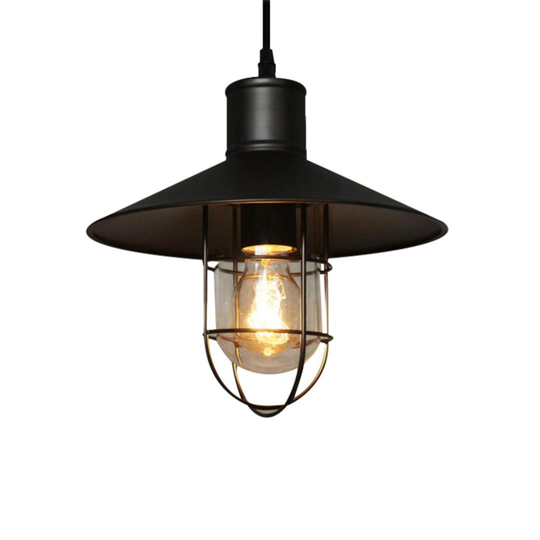 Creative vintage iron industry bar light birdcage chandelier small metal lampshade bar coffee shop chandelier retail hot dining room pendant lighting