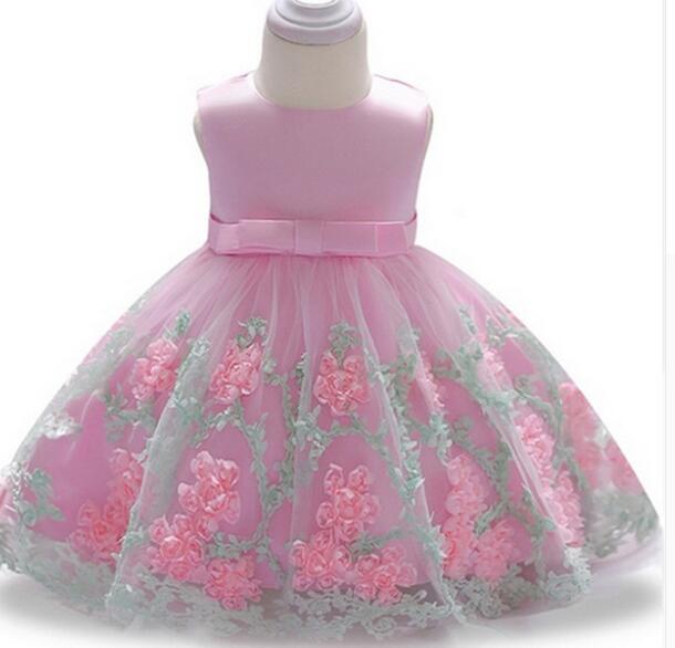 e5e313ea4 2019 2018 Vintage Baby Girl Dress Baptism Dresses For Girls 1st Year ...