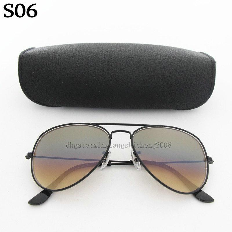Hot Sale Yindot Mens Womens Pilot Gradient UV400 Sunglasses Designer Sun Glasses Grey/Blue 58mm Glass Lenses come box