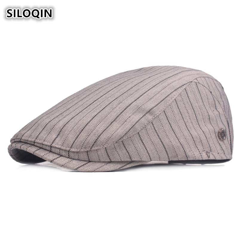 SILOQIN 2018 Spring Summer New Style Fashion Cotton Berets For Women Unisex  Adjustable Head Size Small Fresh Visor Hat For Men Berets Cheap Berets  SILOQIN ... 4d6e2587914b