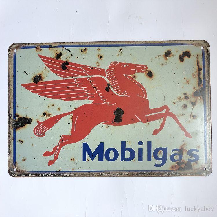 Mobilgas Motor Oil Vintage Rustic Home Decor Bar Pub Hotel Restaurant Coffee Shop home Decorative Metal Retro Metal Tin Sign