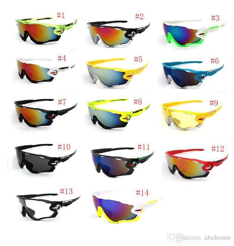 14 Cor Bicicleta Ciclismo Eyewear UV400 Óculos de Sol Óculos Óculos de Sol Mountain Bikes Esporte Óculos À Prova de Explosão-Óculos De Sol
