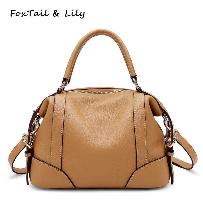 5d42a20ee204 FoxTail   Lily Original Design Women Real Leather Bag Luxury Quality Small Handbags  Genuine Cow Leather Shoulder Messenger Bags Luxury Handbags Leather ...