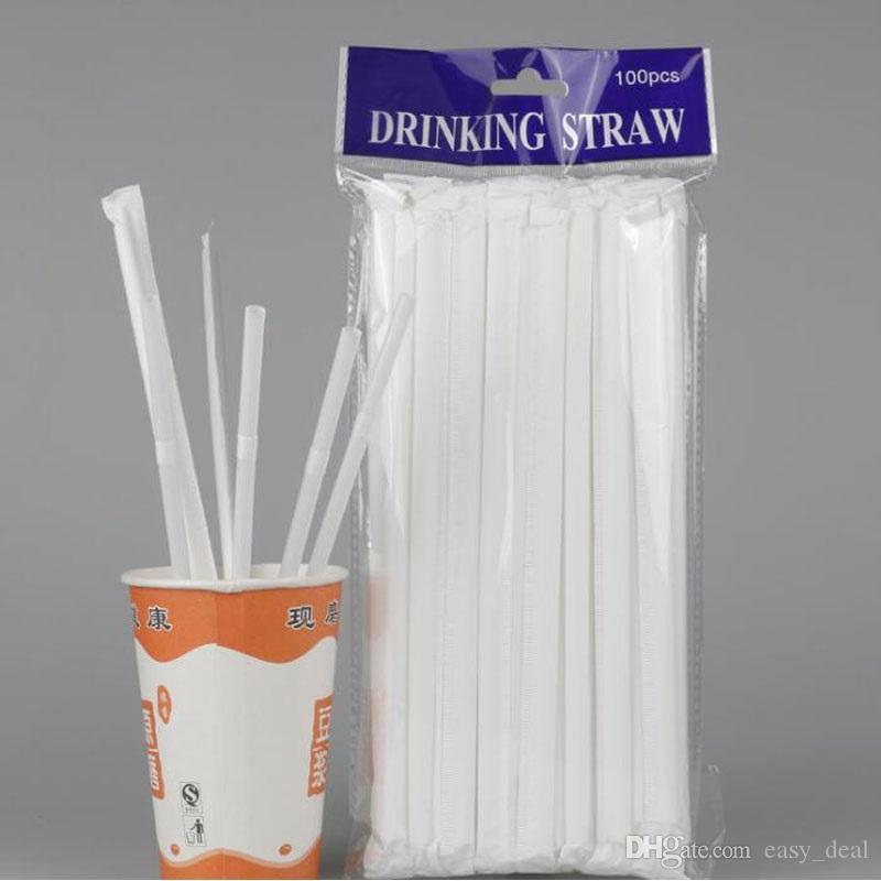 10000 unids Extensible Plástico Flexible Beber Paja Envuelto Individualmente Pajas de Bebidas Desechables Bar Suministros de Fiesta Envío Gratis ZA6215