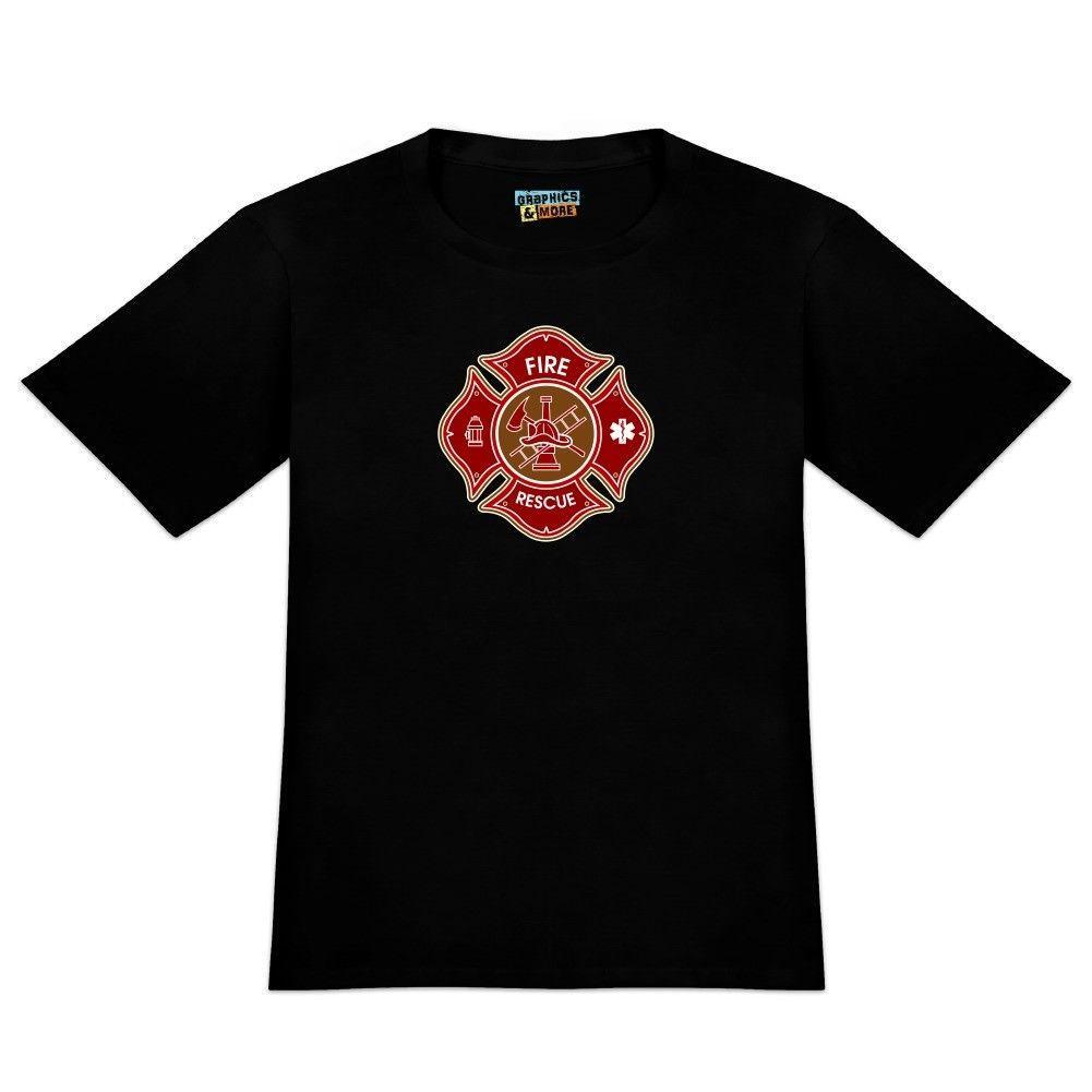 30317beeadc59 Compre Camiseta De Bomberos De Bomberos De La Cruz De Malta Para Bomberos  Fire Rescue A  11.58 Del Funnytees45