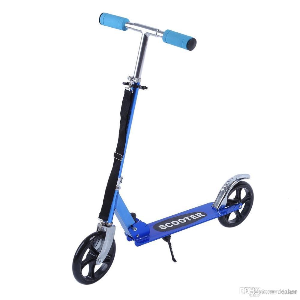 Sport & Unterhaltung 2 Rad Roller Für Erwachsene Kinder Folding Tragbare Mini Fahrrad Erwachsene Tretroller Höhe Einstellbar Roller Professionelles Design Roller