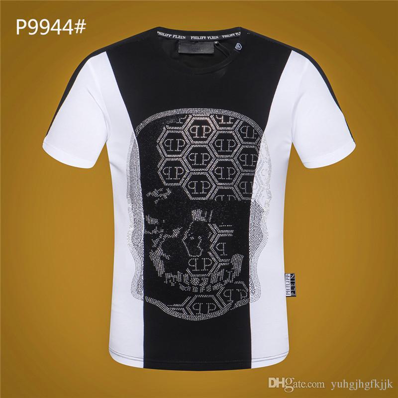 321b259c8 Hot new casual pp moda masculina calavera estampado en caliente camiseta  manga corta camiseta ropa de hombre camiseta pp