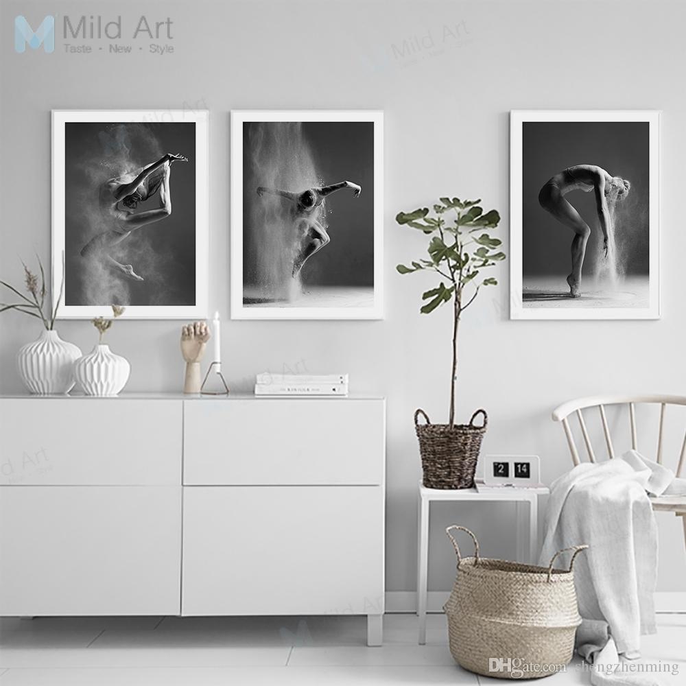 2018 Black White Ballet Dance Girl Portrait Poster And Print Nordic ...