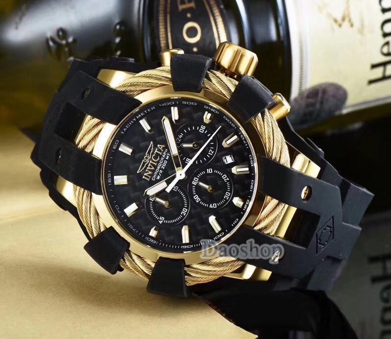 14beacb76d7 Compre Moda Invicta Bolt Modelo 23865 Cronógrafo Deportivo Para Hombre  Relojes De Primeras Marcas De Lujo Banda De Goma Militar Reloj De Cuarzo  Reloj ...
