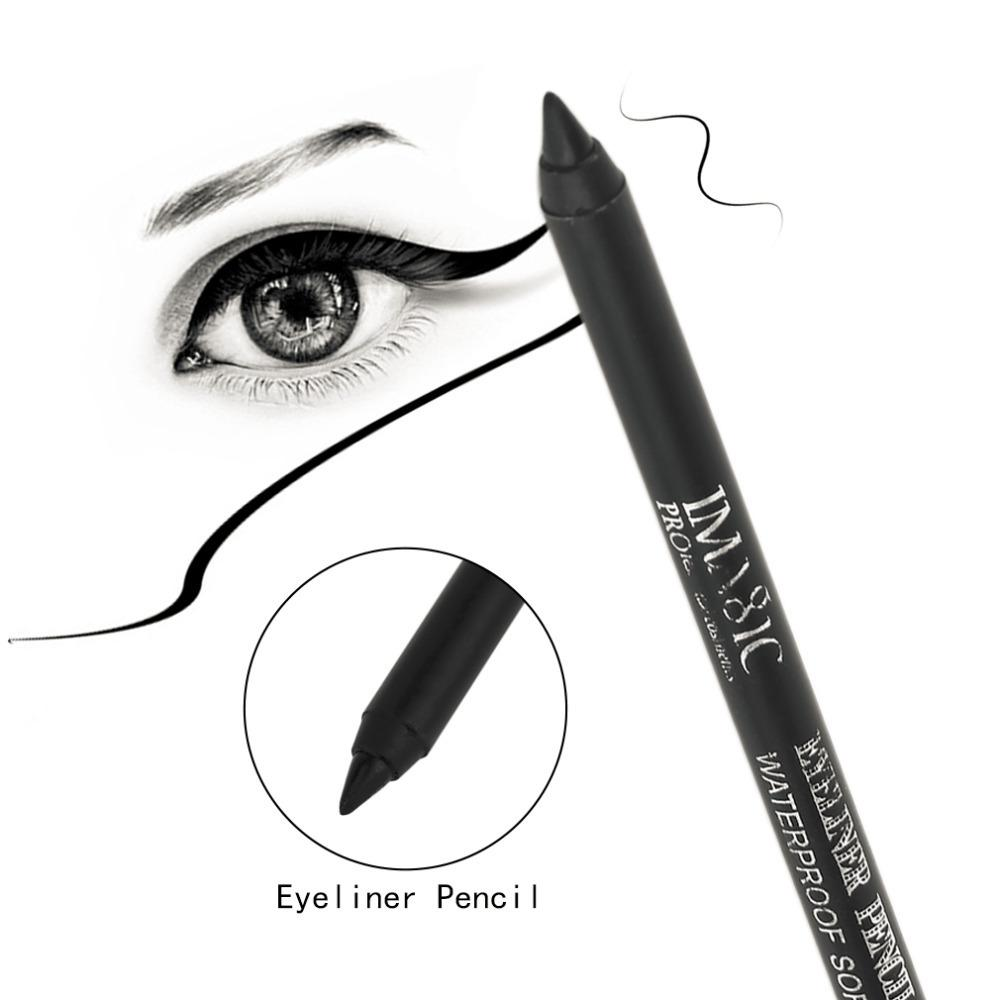 Imagic ey308 black eye liner pencil waterproof long lasting liquid eyeliner pen beauty makeup cosmetic hot new permanent make up smokey eye makeup from