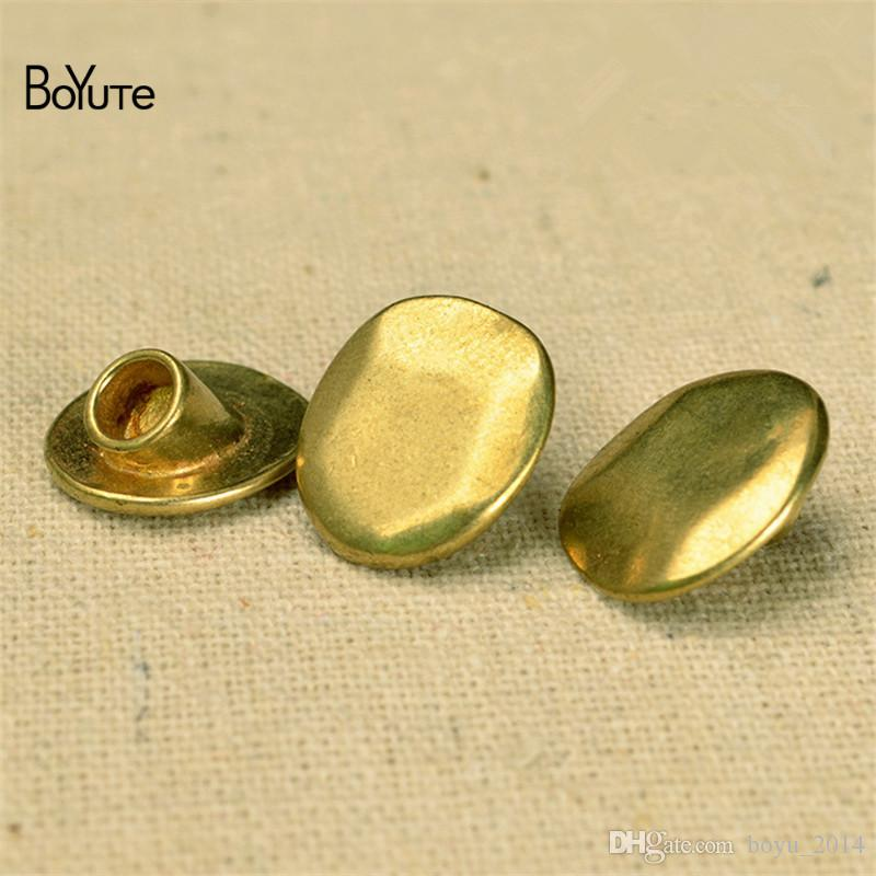 BoYuTe 14*16MM Raw brass Metal Brass Buckle Clasp Connector Diy Accessories Parts Jewelry Findings & Components