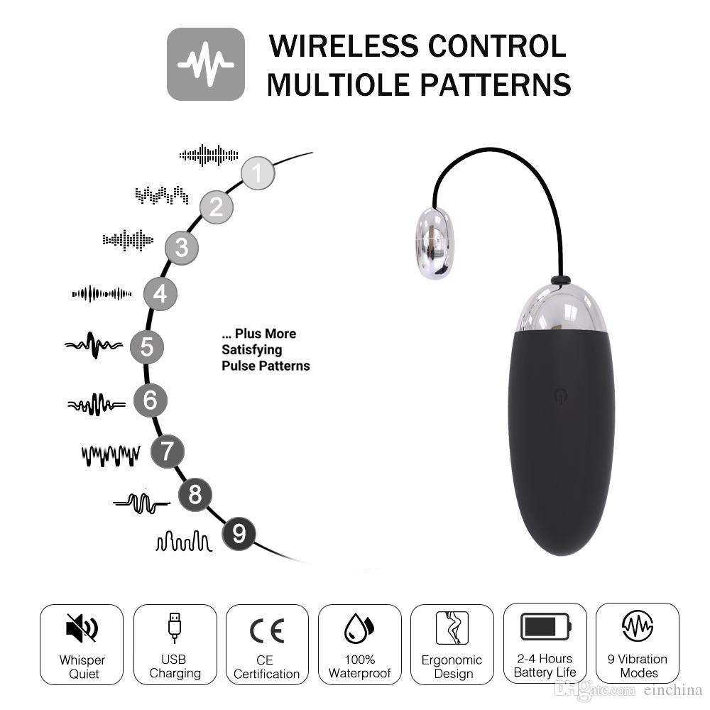 9 Speed USB Rechargeable Wireless Remote Control Vibrator G Spot Adult Sex Toys For Women Clitoris Massager Sex Item